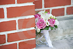Wedding Bouquet Of Roses Royalty Free Stock Photography - Image: 24184047