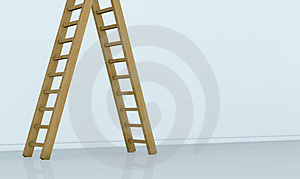 One Wall With A Ladder Royalty Free Stock Photos - Image: 24186558