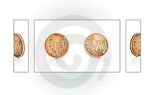 Collage Of A 10 Euro Cent Coin Stock Photos - Image: 24194193