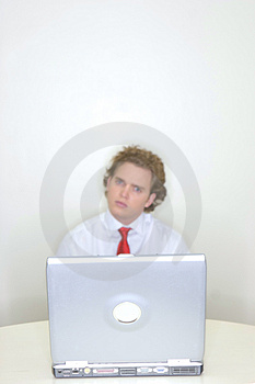 Puzzled Businessman Stock Photography - Image: 2422122
