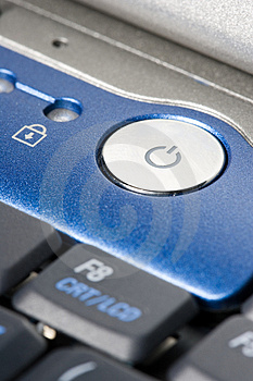 Power-Button of a laptop Royalty Free Stock Photos