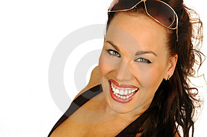 Laughing Sexy Brunette Royalty Free Stock Photography - Image: 2426987