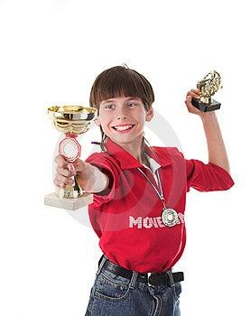 Chłopiec Wygranie W Rywalizaci Zdjęcia Stock - Obraz: 2429973