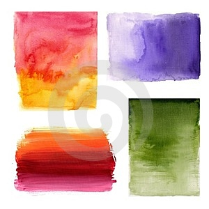 Watercolours On Paper Stock Photos - Image: 24201353