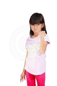 Little Girl Be Satisfied Stock Images - Image: 24216554