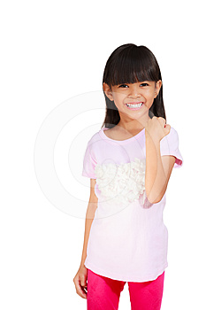 Little Girl Be Satisfied Royalty Free Stock Photo - Image: 24217075
