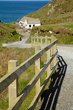 Path To Tintagel Beach And Castle Cornwall UK Royalty Free Stock Photo - Image: 24219255