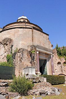 Temple Of Romulus, Ancient Rome Ruin Royalty Free Stock Image - Image: 24222796