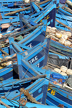 Old Blue  Rusty Boats Stock Photos - Image: 24225793