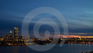 Sunset Of Charles River, Boston Royalty Free Stock Images - Image: 24228489