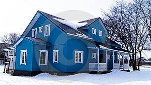 Blue House Royalty Free Stock Image - Image: 24229196