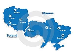 Poland And Ukraine Royalty Free Stock Photos - Image: 24229598