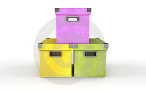 Three Boxes Stock Images - Image: 24231214