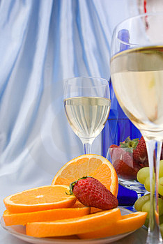 Clouseup Of Two Glasses Of Wine Royalty Free Stock Images - Image: 24231789