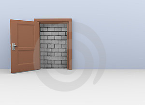 3d Door To No Way Royalty Free Stock Photography - Image: 24231867