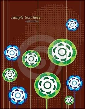 Geometric Flowers Royalty Free Stock Image - Image: 24233946