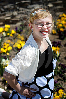 Teen In Flower Garden Royalty Free Stock Images - Image: 24234999
