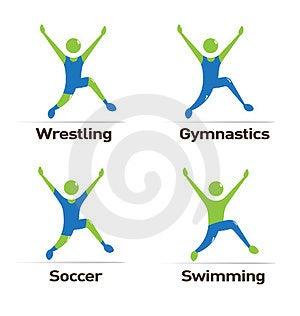 Olympics Athletes Royalty Free Stock Image - Image: 24235176