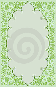 Green Tone Ancient Flowoer Frame Background Stock Images - Image: 24239714