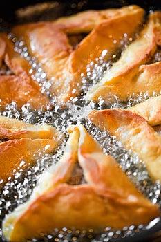 Frying Pies On Pan Stock Photos - Image: 24246603
