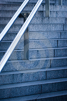 Stairs With Handrail Royalty Free Stock Image - Image: 24247006