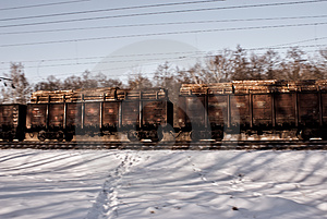 Freight Railway Cars Royalty Free Stock Photography - Image: 24248127