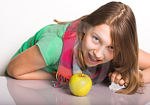 Appetite For The Apple Royalty Free Stock Photography - Image: 24248817