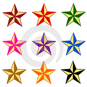 Star stock image. Image of colored, glow, design, cartoon - 24253035