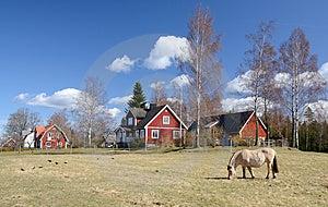 Idyllic Swedish Countryside Landscape Stock Image - Image: 24256441