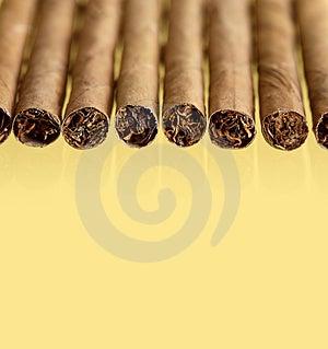 Cigars On Yellow Stock Photos - Image: 24262993