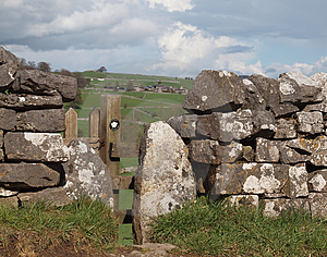 Footpath Stile In Dry Stone Wall Royalty Free Stock Photo - Image: 24265655