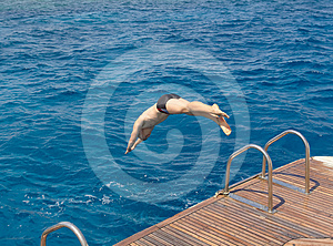 Jump In The Sea Royalty Free Stock Images - Image: 24278679