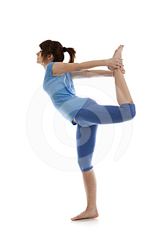 Image Of A Girl Practicing Yoga Royalty Free Stock Image - Image: 24287876