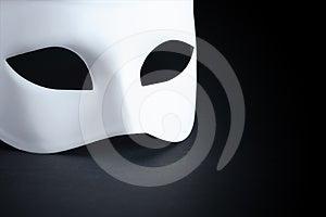 Mask On Black Stock Photo - Image: 24295650