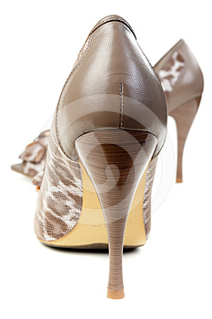 A Pair Of Female Leopard Shoes Stock Photo - Image: 24298150