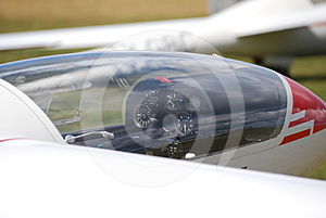 Glider Cockpit Royalty Free Stock Image - Image: 24298606