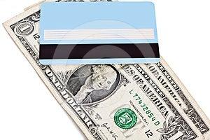Bank Credit Card And Dollars Royalty Free Stock Photo - Image: 24299045