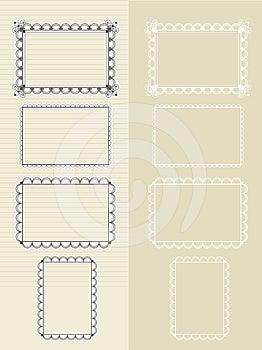 Set Of Frames Royalty Free Stock Image - Image: 24299136