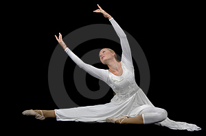 Ballerina wearing white Stock Photography