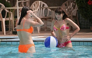 Women In The Pool Royalty Free Stock Photography - Image: 2435777