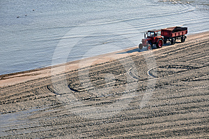 Tractor Beach Stock Photography - Image: 24301032
