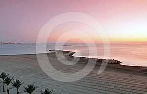 Morning Sea Sun Stock Images - Image: 24301614