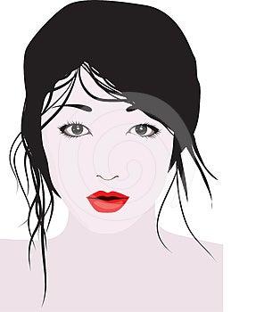 Portrait Of A Beautiful Woman Stock Photo - Image: 24305930