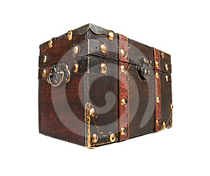 Antique Closed Chest Isolated Royalty Free Stock Photo - Image: 24308965