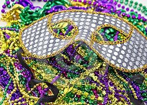 Seqioned Mardi Gras Masquerade Mask