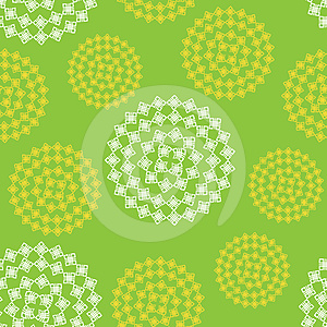 Seamless Abstract Flower Pattern Stock Images - Image: 24311504
