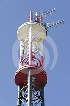 Telecommunications Pylon Royalty Free Stock Images - Image: 24317379