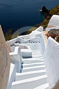 Santorini's Island Architecture At Greece Stock Images - Image: 24317624