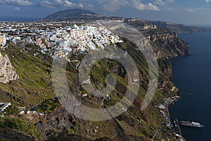 Fira City At Santorini Island, Greece Royalty Free Stock Photos - Image: 24323048
