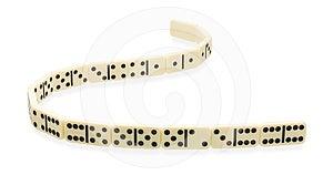 Winding Ribbon Of Dominoes Royalty Free Stock Photos - Image: 24329168